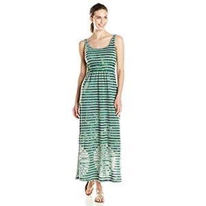 2229269d54 Prana Maxi dress tie dye Adrienne striped green L